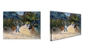"Trademark Global Van Gogh 'Entrance To The Public Gardens In Arles' Canvas Art - 24"" x 18"" x 2"""
